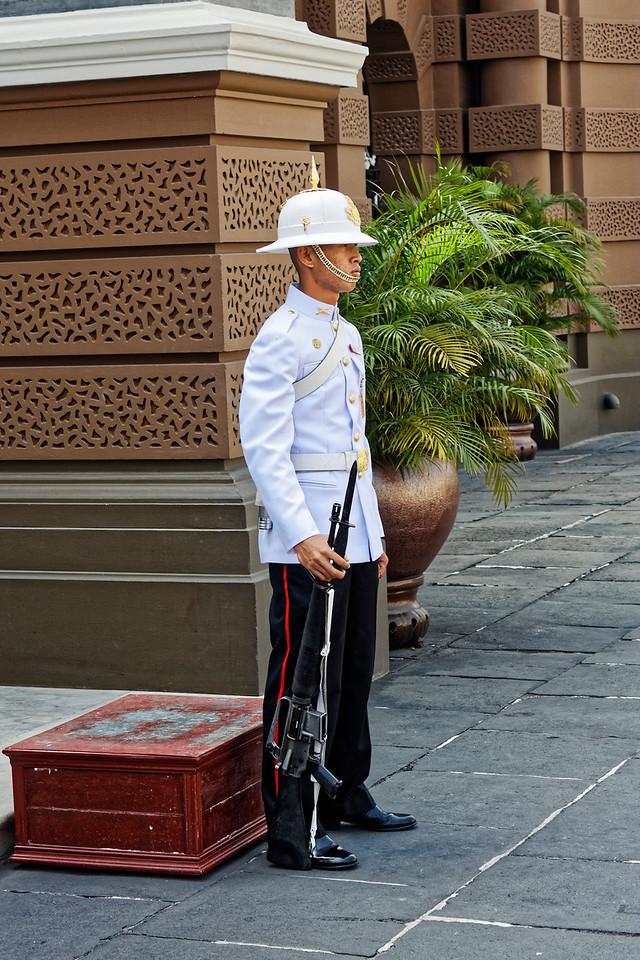 Military guard at the Grand Palace, Bangkok