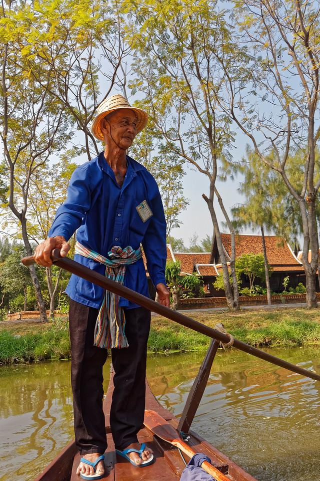 Boatman at Muang Boran, Samut Prakan