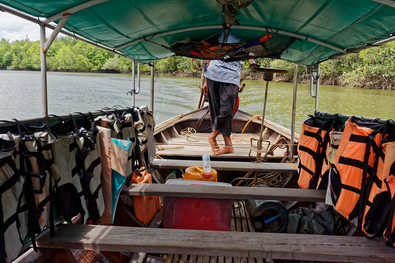 Longtail-boat operator who guided me among the waterways at Krabi, southern Thailand