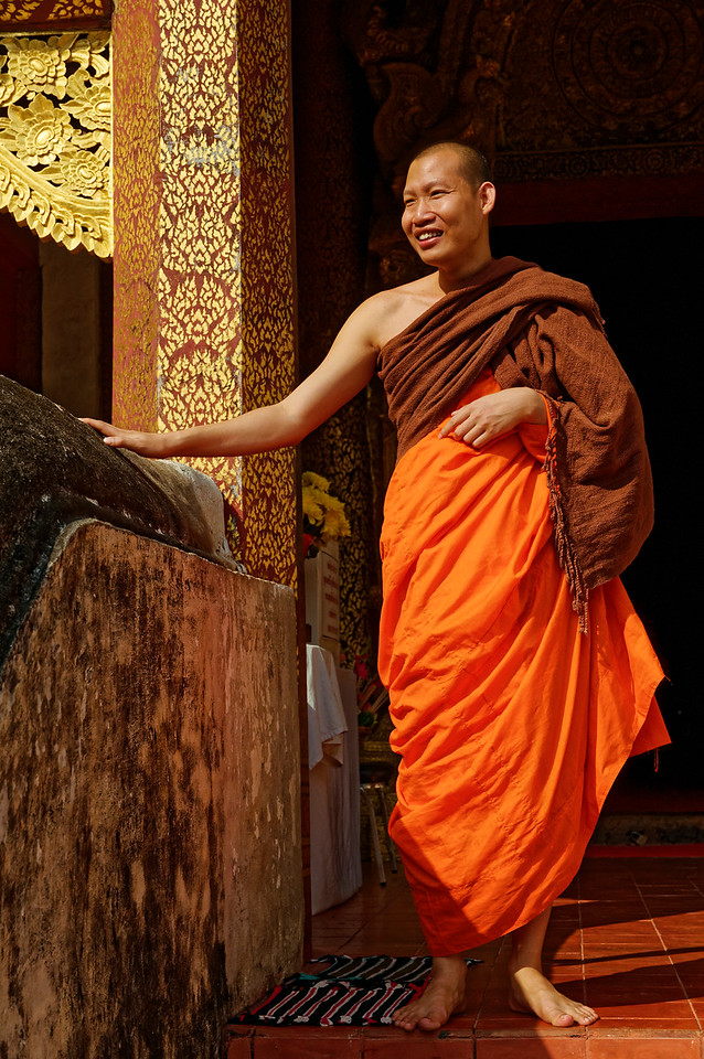 Monk at Wat Phra Singh, Chiang Mai