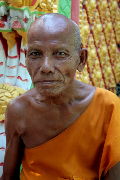 Another friendly monk, at Wat Phra That Rueang Rong, Sisaket