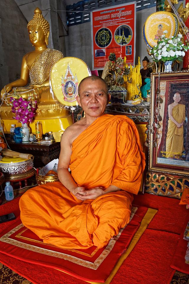 Monk at Wat Bupparam, Chiang Mai