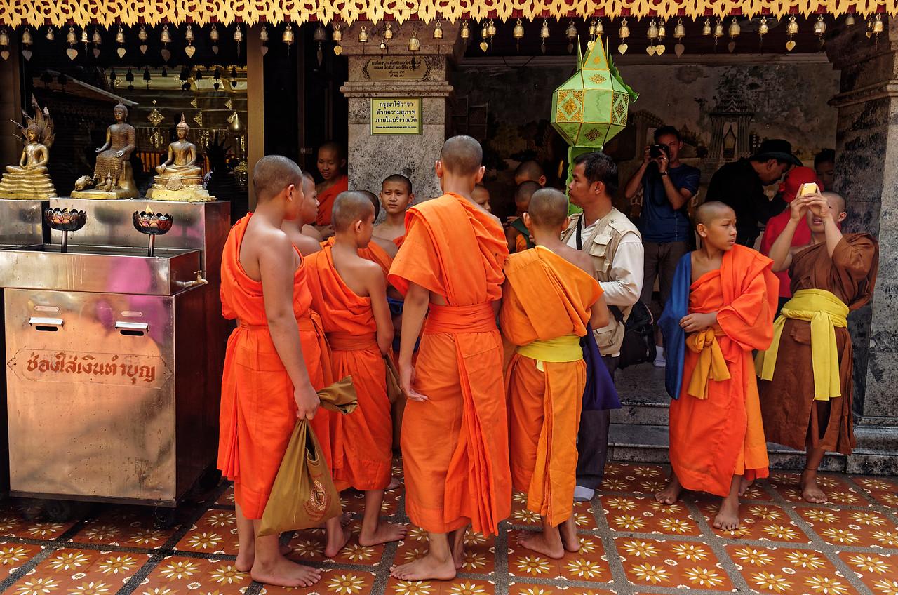 Young monks at Wat Phra Boromathat Doi Suthep, Chiang Mai