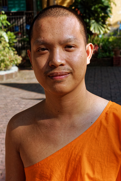 Naret, a friendly young monk at Wat Pantong, Chiang Mai