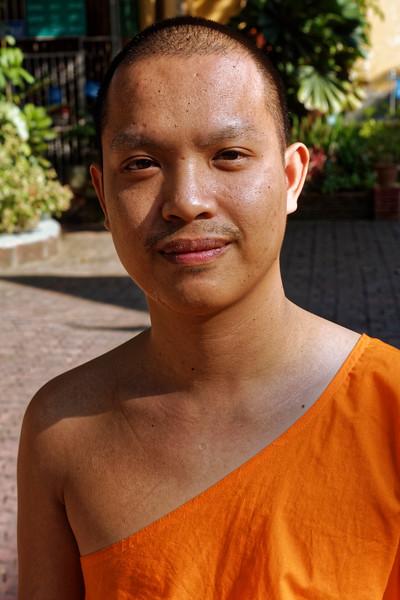 Naret, a friendly young monk at Wat Pantong, Chiang Mai