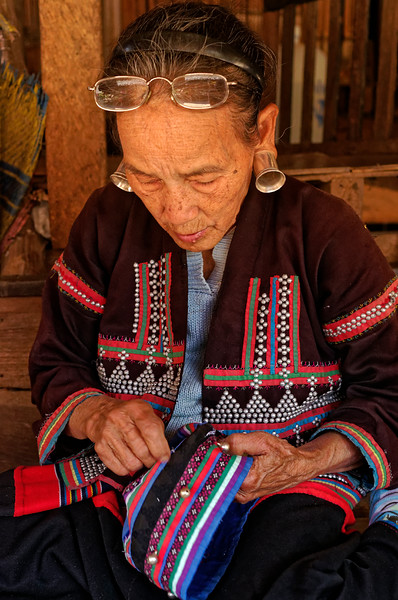 Yellow Lahu woman, Mae Sa Valley