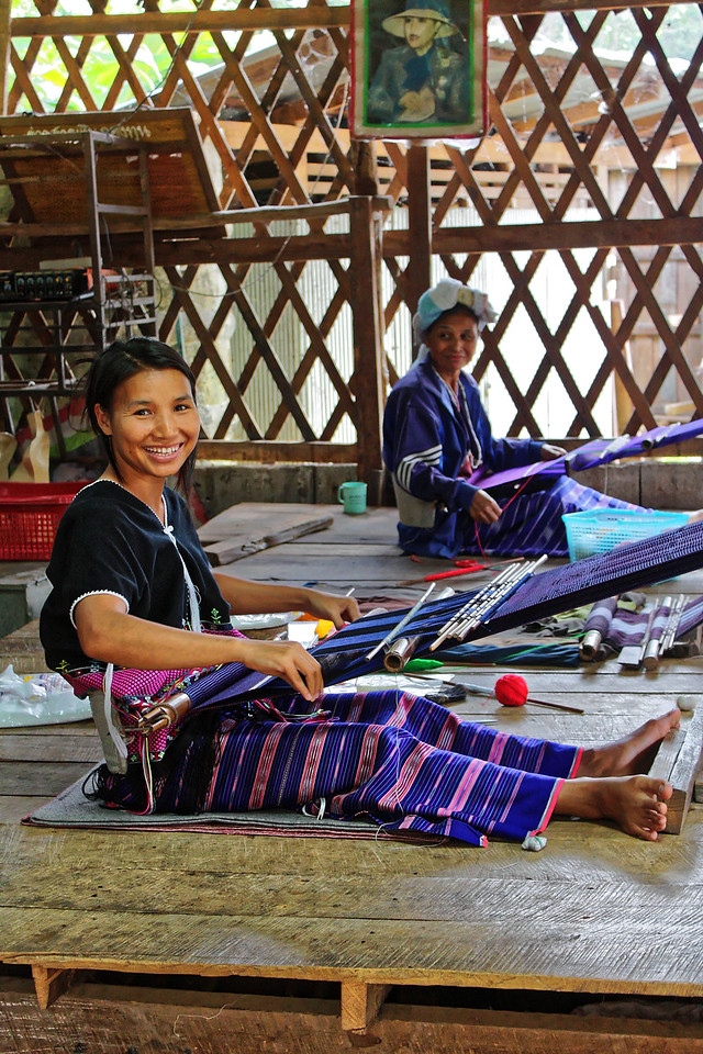 The Karen have lived in Thailand for well over 200 years and are the most populous of the hill tribes in the country. There are two major groups: the Sgaw and the Pwo. Karen women have a well-deserved reputation as highly accomplished and skillful weavers.