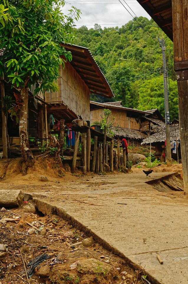 A street in the village of Ban Kariang, Mae Sa Kua
