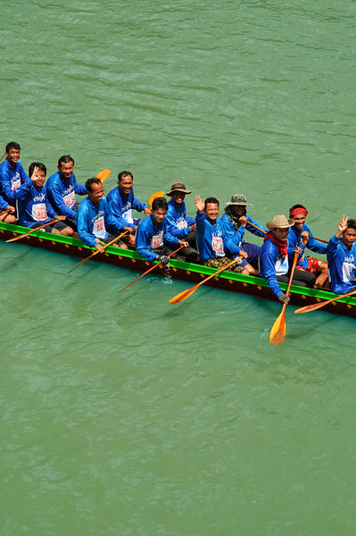 Part of a crew of racers at Rasi Salai, northeast Thailand