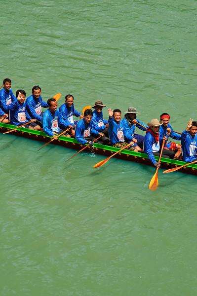 Part of a crew of racers at Rasi Salai, northeast Thailand