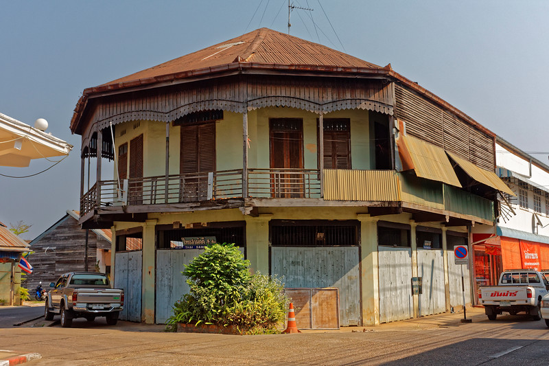 Traditional Thai building, Nakhon Phanom, northeasr Isaan