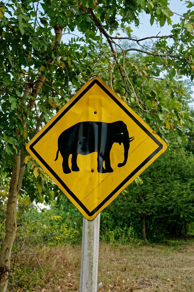 Road sign, Kanchanaburi