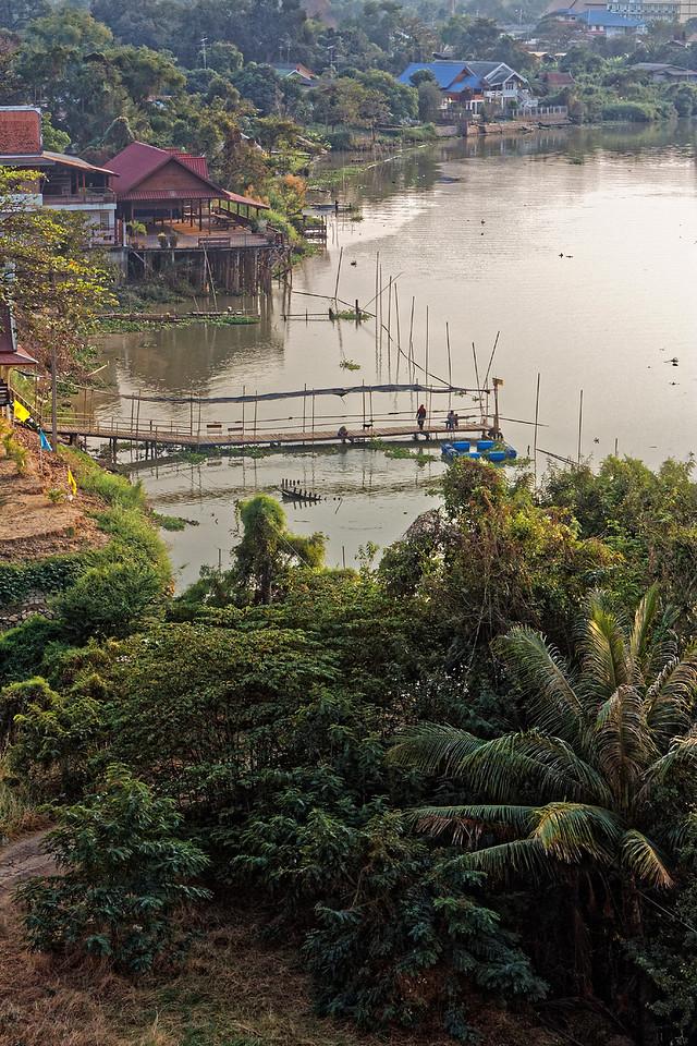 Dusk along the Chao Phraya river at Ayutthaya, central Thailand