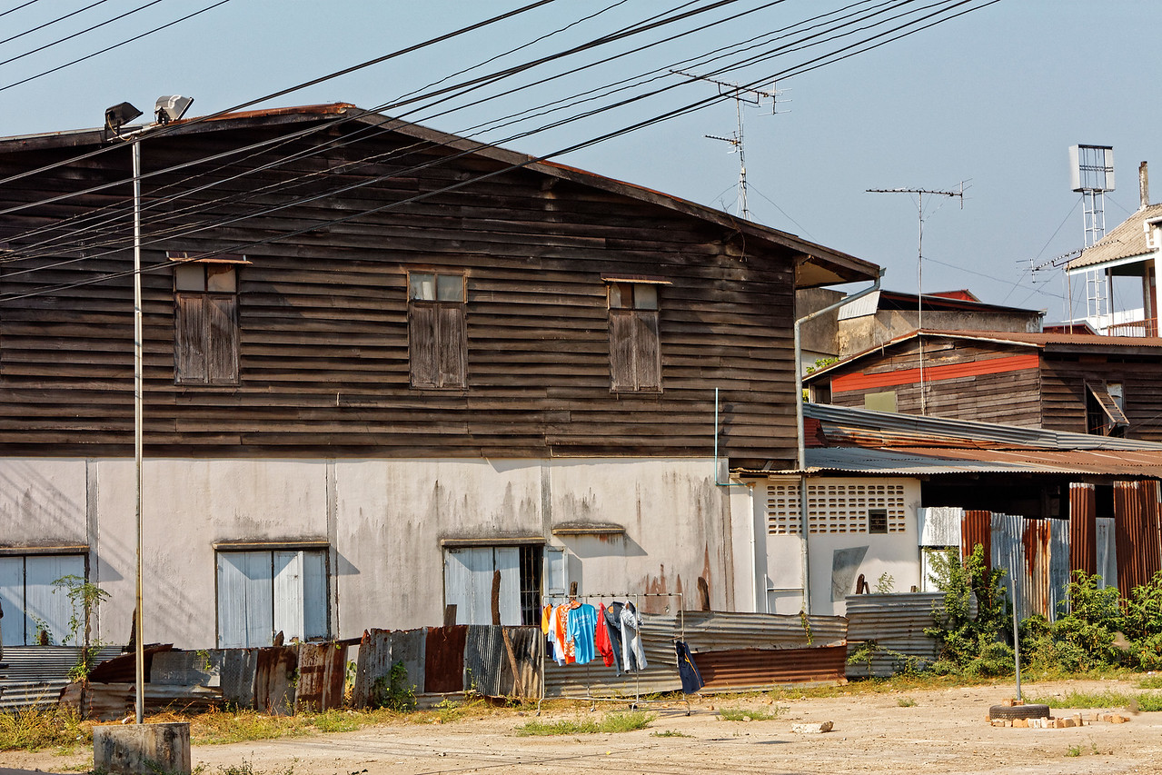Street scene with laundry, Nakhon Phanom