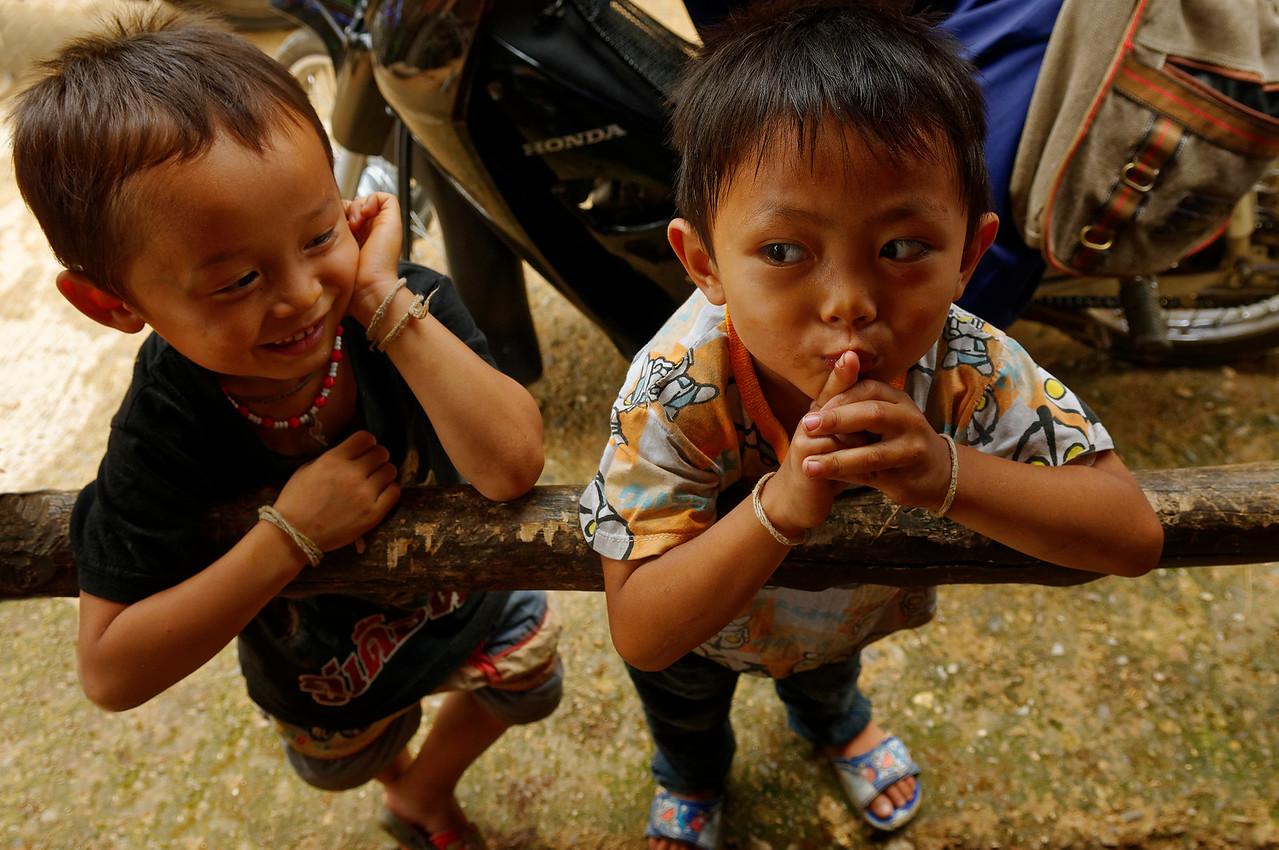 Karen boys in the village of Ban Kariang, Mae Sa Kua