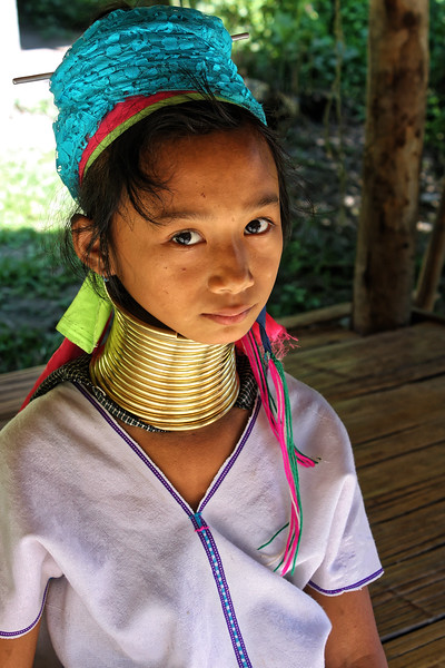 Paduang girl at a Karen village, Mae Sa Valley