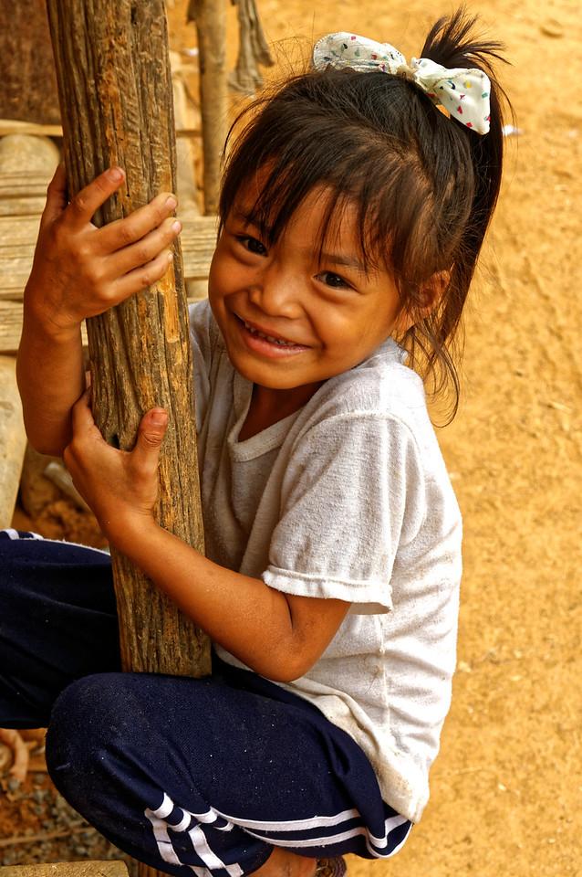 Karen girl in the village of Ban Kariang, Mae Sa Kua, near Mae Hong Son, northern Thailand