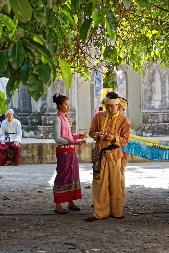 Young Tai Yai woman and men. The Tai Yai are a subgroup of the Shan, a Tai ethnic group believed to have migrated from Yunnan in China. Its members live primarily in the Shan State of Burma. The Shan language is closely related to both Thai and Lao.