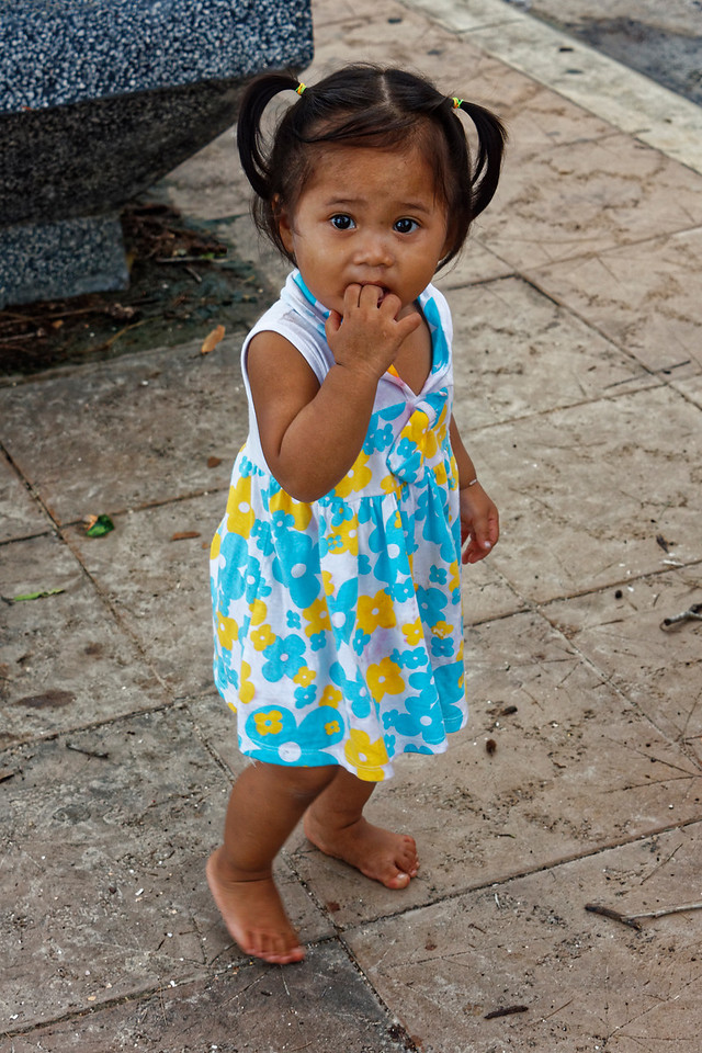 Another little Muslim girl, seemingly transfixed by the camera, Ao Nang, southern Thailand