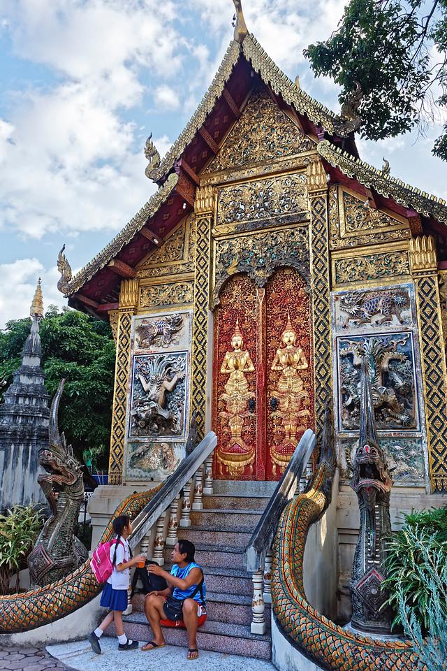 Father and daughter at Wat Ket Karam, Chiang Mai