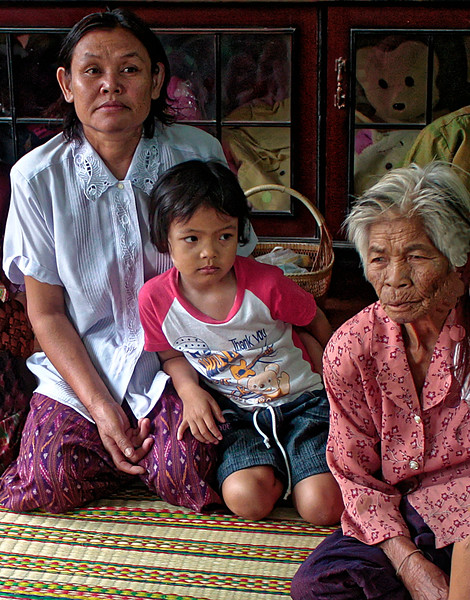 Three generations (and a bear), Rasi Salai, northeast Thailand