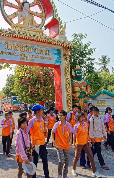 School's out in Mukdahan, northeast Isaan, on the Mekong River