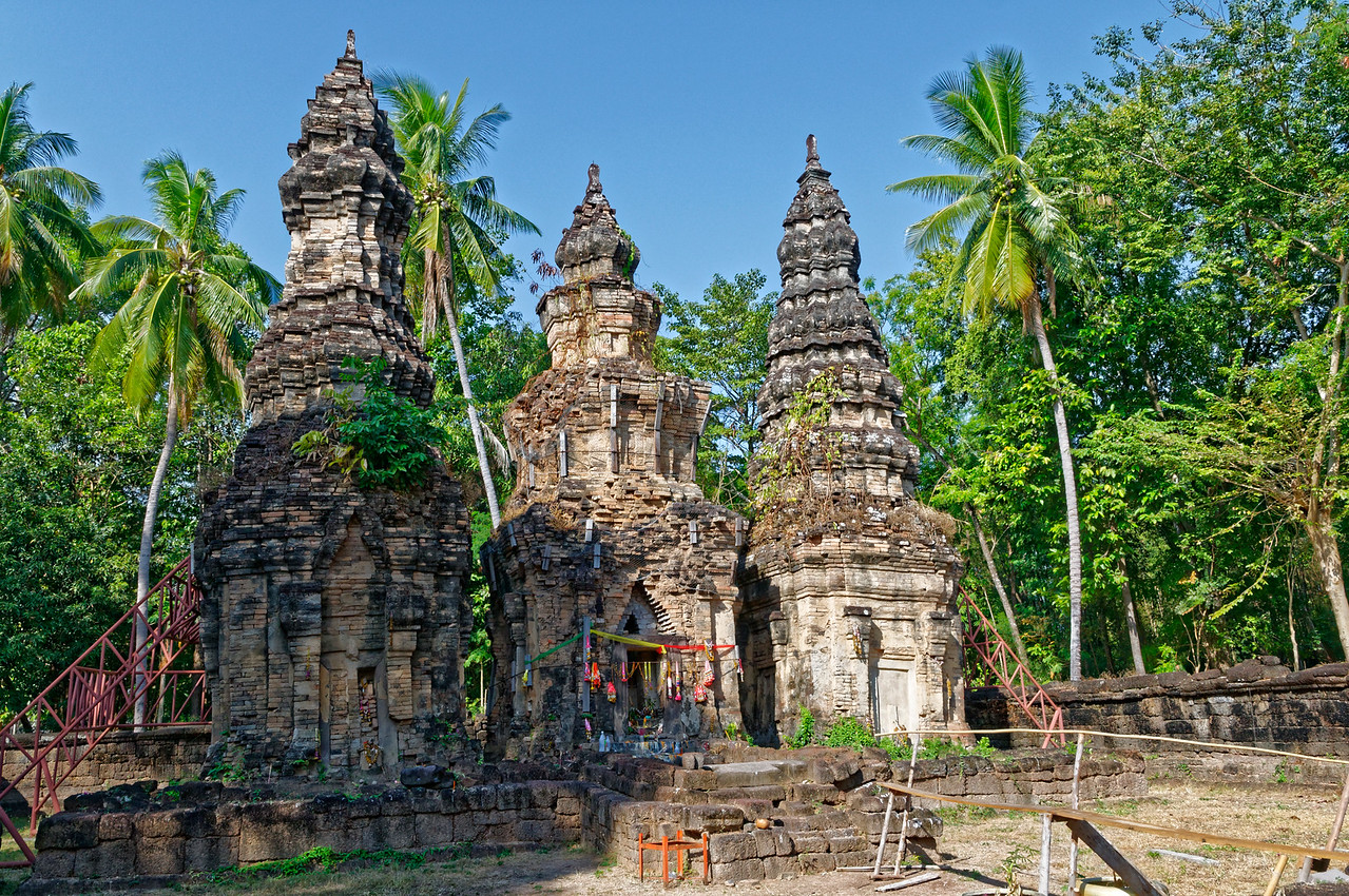 The three towers of Prasat Ban Prasat