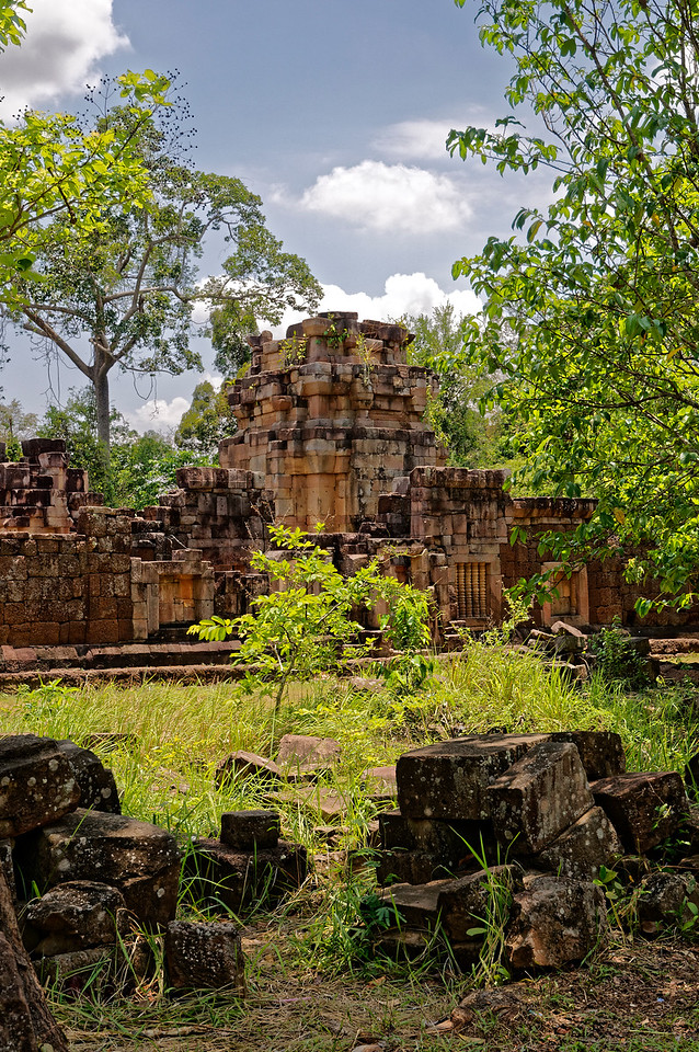Incongruously—given its violently troubled past—Ta Muean Thom is located in what is by nature a serene and rather idyllic forested location. Sadly, land mines in the area, left over from the conflict of the 1980s, are still a potential danger.