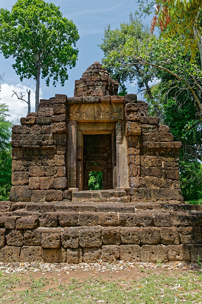 The entry to the structure at 12th-century Prasat Ta Muean, which faced east