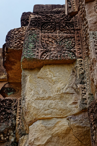 The remaining carved details can only suggest how much must have been lost to posterity with the removal of the temple's pediments and lintels.