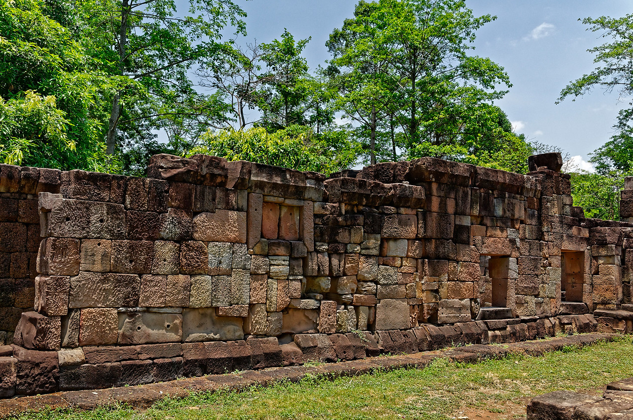 A portion of the surrounding wall that enclosed the sanctuary