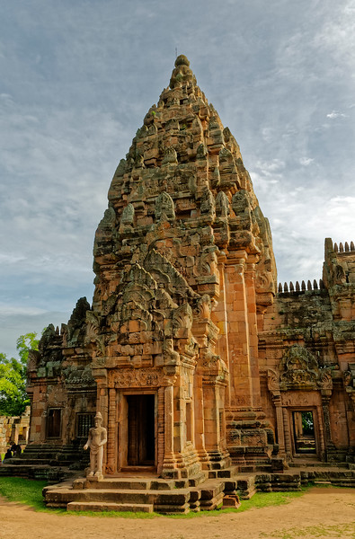 The central tower or <i>prang,</i> which housed the temple's most sacred object of worship