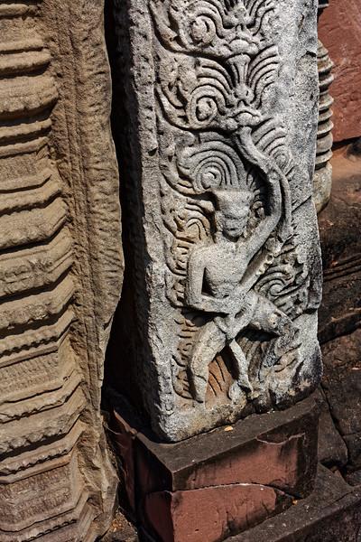Carved pilaster base