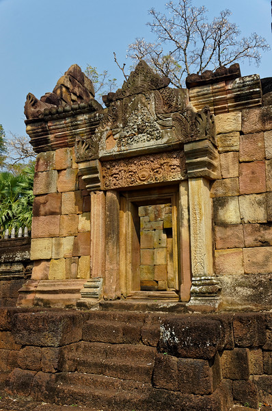 Pediments and lintels throughout the temple were richly carved.