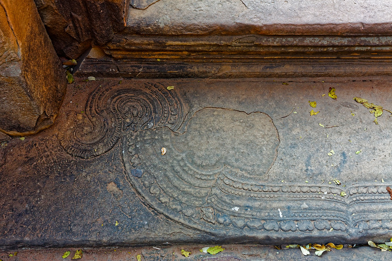 Decoration on an interior threshold just within the eastern <i>gopura</i>