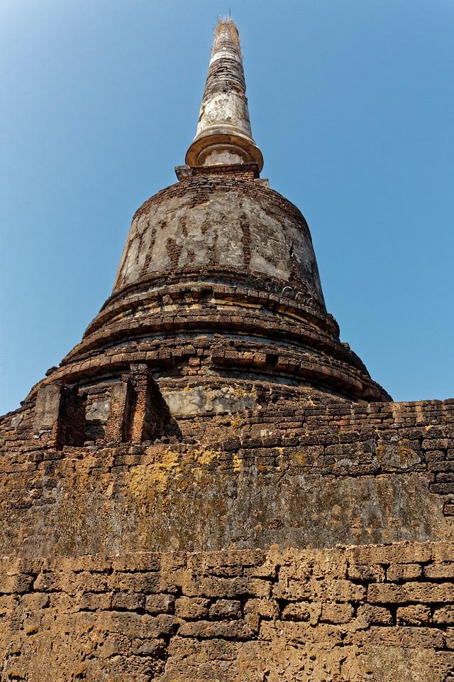 Sri-Lankan-style stupa at Wat Khao Suwankhiri