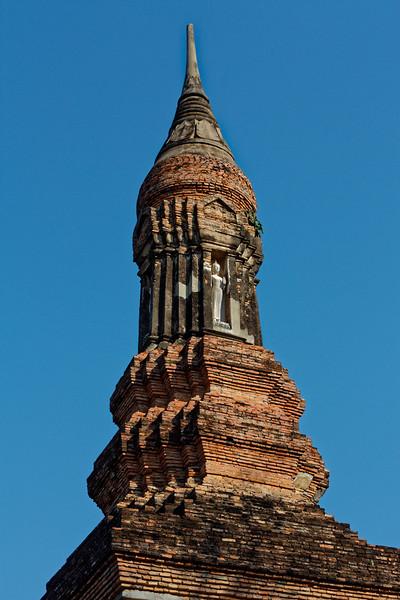 The top of the <i>chedi</i> or stupa at Wat Traphang Ngoen
