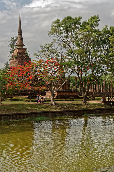 Wat Sa Si, situated on an artificial island in the middle of a reservoir
