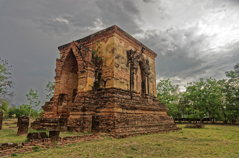 This <i>mondop</i> at Wat Traphang Thong Lang is the only structure still standing. The arched opening in the east wall provided access to the interior, which once housed an enormous Buddha image.