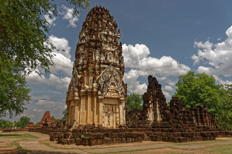 Outside the ancient walled center of Sukhothai and about one mile north of Wat Mahathat are the remains of Wat Phra Phai Luang, religious center of a city built in the late 12th or early 13th century by Khmer king Jayavarman VII.