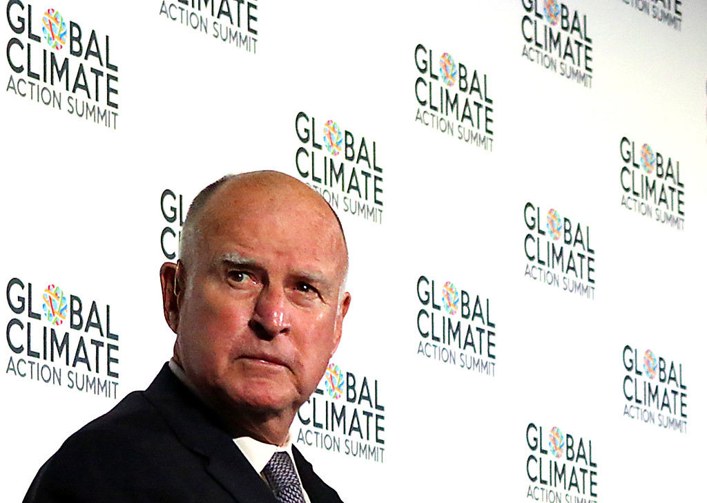 . California Governor Jerry Brown�s passion for the environment impelled him to visualize the Global Action Climate Summit.  (Shmuel Thaler -- Santa Cruz Sentinel)