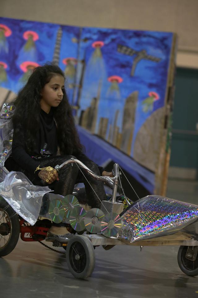 333-56554- Pace of Change- Technical Challenge- Middle Level- AlFaisal Foundation- ghaer wa taweer- Qatar, Destination Imagination photo; photographer: Abbey Hoekzema