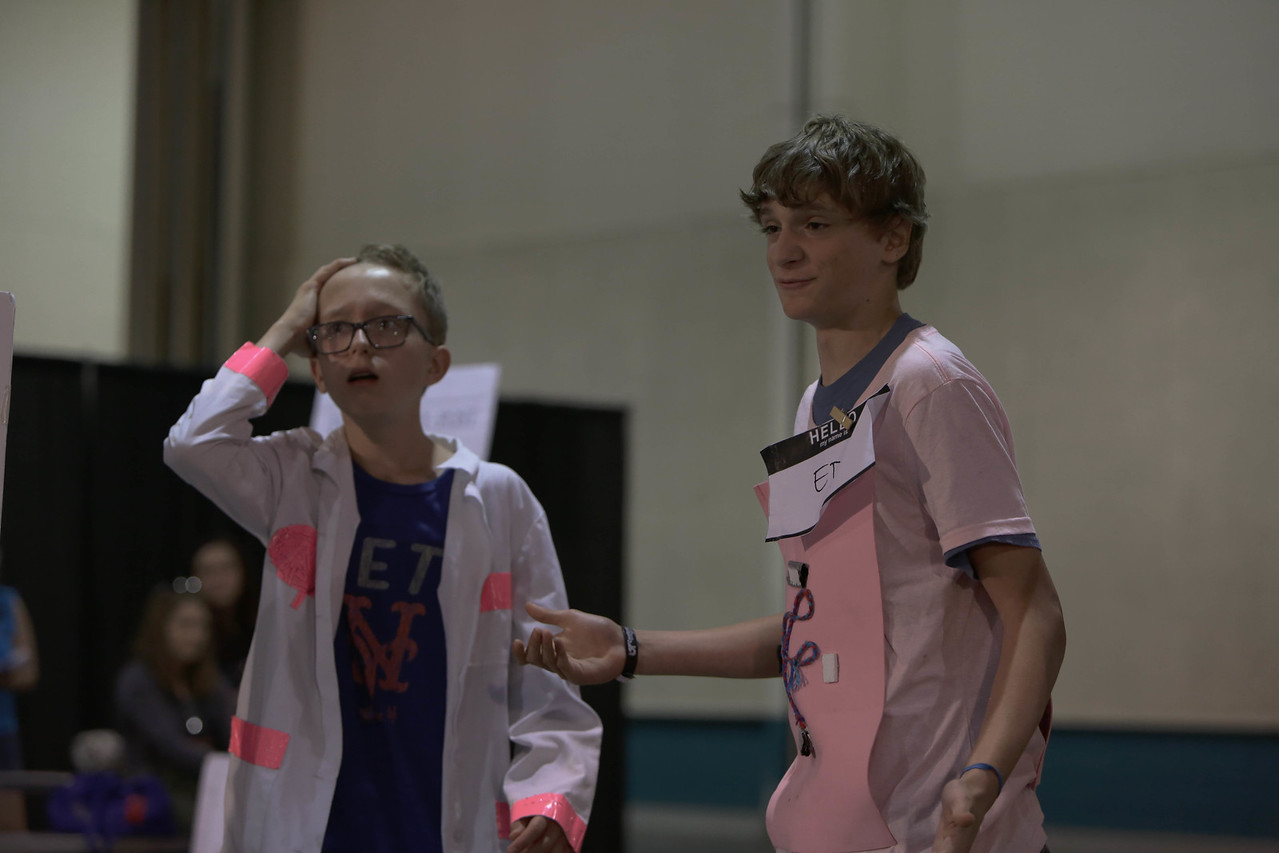 106-94689- Pace of Change- Technical Challenge- Middle Level- ELA/Slavens/Hill/Good Shephard- To Be Determined- Colorado, 2016, Destination Imagination photo; photographer: Abbey Hoekzema