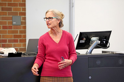 Dr. Carol Levin teaches Global Health students at the University of Washington.   Photo by Marcus R. Donner © 2019