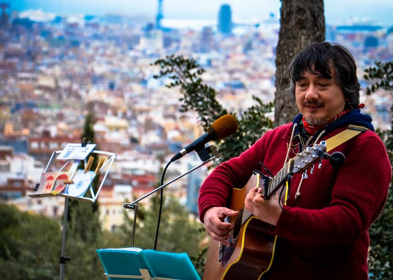 Musician at  Park Güell