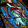 Stained Glass Window at Santa Maria de Montserrat Abbey