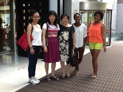 Alice Hung '86 (center) with St. Mark's contingent in Beijing