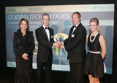 Sunvia accepts the 2010 Commercial Technology of the Year award.