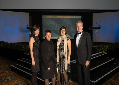 This a a group at the Platts Global Energy Awards 2010 Gala.