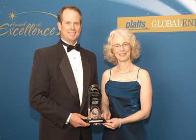 Mark Case, Senior Vice President of Strategy and Regulatory Affairs and Ruth Kiselewich, Director, Side Management Programs for Baltimore Gas and Electric, accept the award for 2010 Energy Efficiency Program of the Year - Energy Supplier.